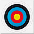 60CM COMPETITION ARCHERY TARGET FACES (ROLL OF 10)